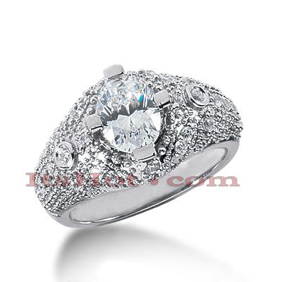 14K Gold Diamond Engagement Ring Mounting 0.38ct