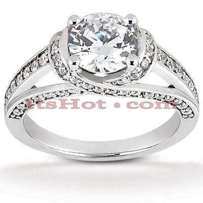 14K Gold Diamond Engagement Ring Mounting 0.39ct