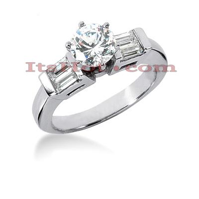 14K Gold Diamond Engagement Ring Mounting 0.40ct