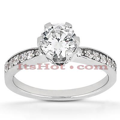 14K Gold Diamond Engagement Ring Mounting 0.41ct