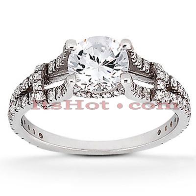 14K Gold Diamond Engagement Ring Mounting 0.42ct