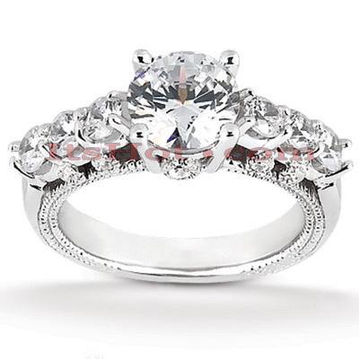 14K Gold Diamond Engagement Ring Mounting 0.43ct