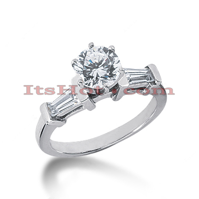 14K Gold Diamond Engagement Ring Mounting 0.44ct