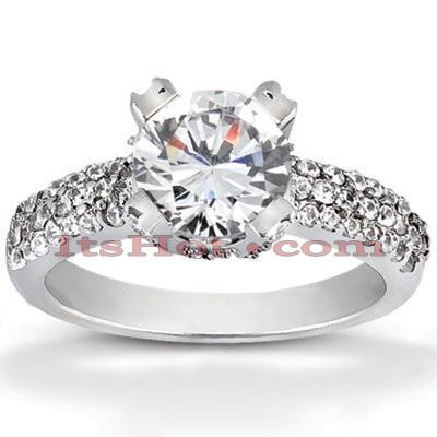14K Gold Diamond Engagement Ring Mounting 0.45ct