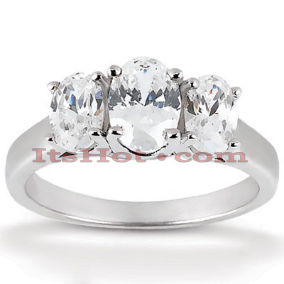 Thin 14K Gold Diamond Engagement Ring Mounting 0.50ct
