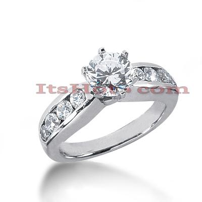 14K Gold Diamond Engagement Ring Mounting 0.52ct