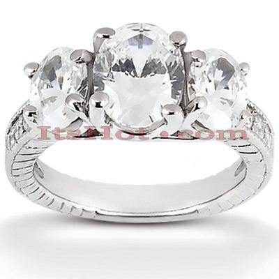 Thin 14K Gold Diamond Engagement Ring Mounting 0.53ct