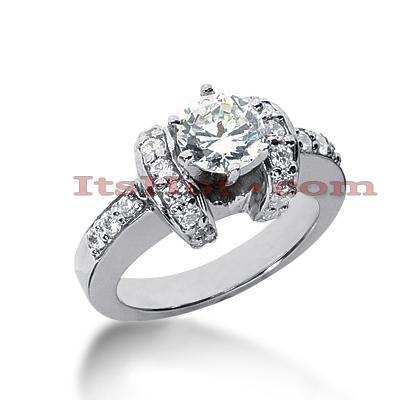 14K Gold Diamond Engagement Ring Mounting 0.53ct