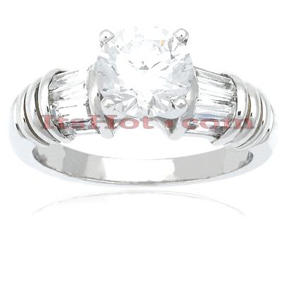 14K Gold Diamond Engagement Ring Mounting 0.54ct