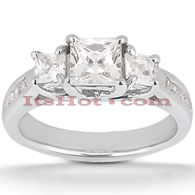 14K Gold Diamond Engagement Ring Mounting 0.56ct