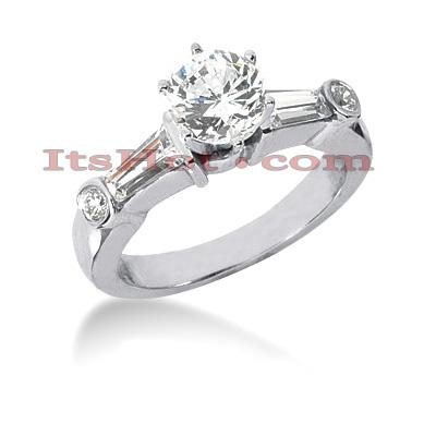 14K Gold Diamond Engagement Ring Mounting 0.58ct