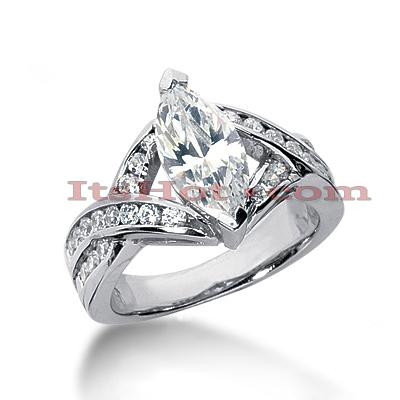14K Gold Diamond Engagement Ring Mounting 0.61ct