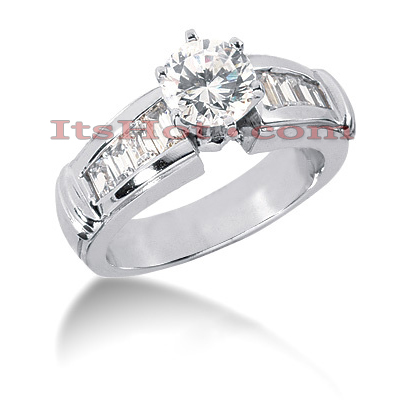 14K Gold Diamond Engagement Ring Mounting 0.62ct