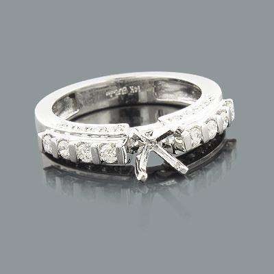 14K Gold Diamond Engagement Ring Mounting 0.63ct