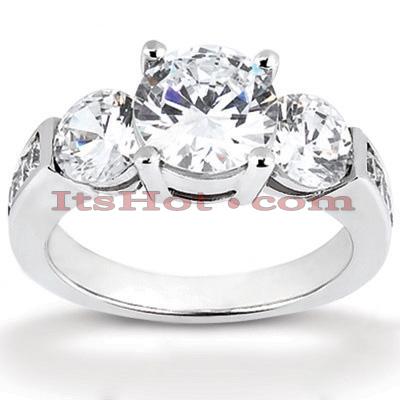 Thin 14K Gold Diamond Engagement Ring Mounting 0.65ct