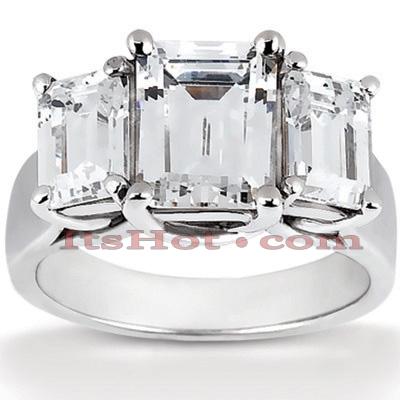 14K Gold Diamond Engagement Ring Mounting 0.66ct