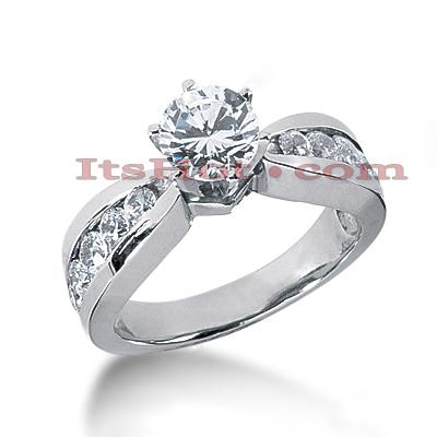 14K Gold Diamond Engagement Ring Mounting 0.68ct