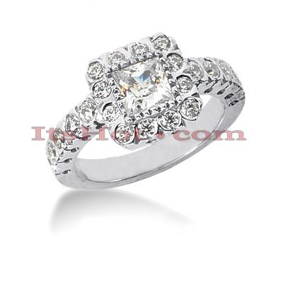 Halo 14K Gold Diamond Engagement Ring Mounting 0.70ct