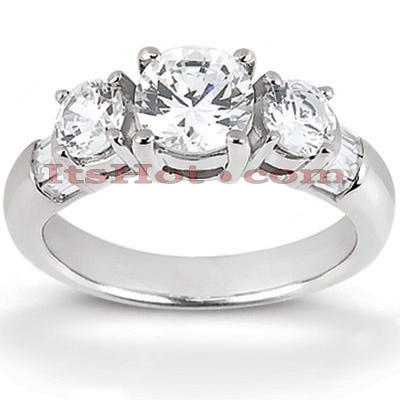 Thin 14K Gold Diamond Engagement Ring Mounting 0.70ct