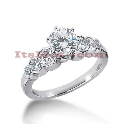 14K Gold Diamond Engagement Ring Mounting 0.70ct