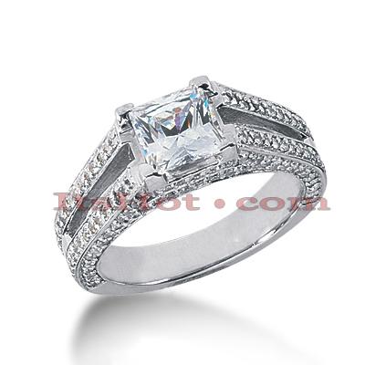 14K Gold Diamond Engagement Ring Mounting 0.73ct