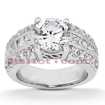 14K Gold Diamond Engagement Ring Mounting 0.75ct