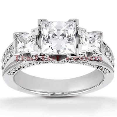 14K Gold Diamond Engagement Ring Mounting 0.79ct