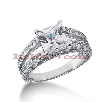 14K Gold Diamond Engagement Ring Mounting 0.81ct