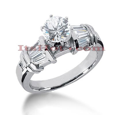 14K Gold Diamond Engagement Ring Mounting 0.82ct