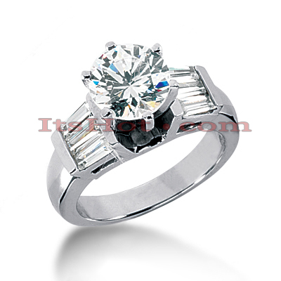 14K Gold Diamond Engagement Ring Mounting 0.84ct