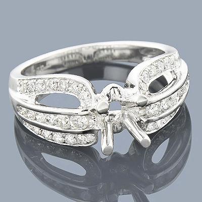 14K Gold Diamond Engagement Ring Mounting 0.85ct