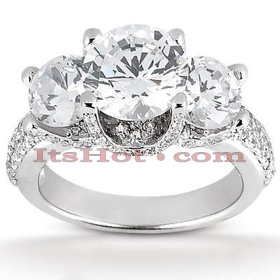 14K Gold Diamond Engagement Ring Mounting 0.87ct
