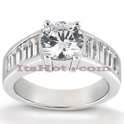 14K Gold Diamond Engagement Ring Mounting 0.92ct