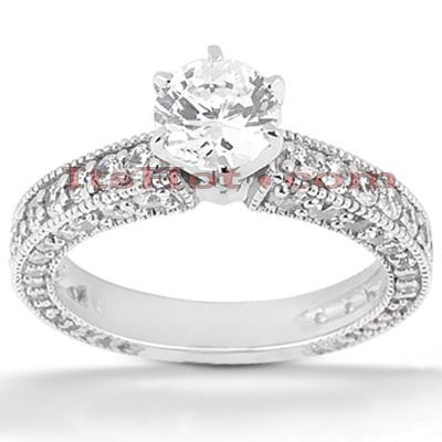 14K Gold Diamond Engagement Ring Mounting 0.93ct