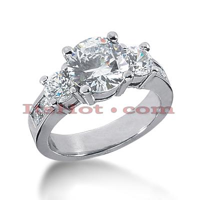 14K Gold Diamond Engagement Ring Mounting 0.94ct