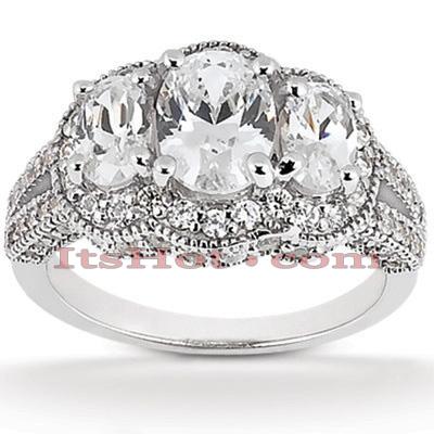 14K Gold Diamond Engagement Ring Mounting 1.01ct