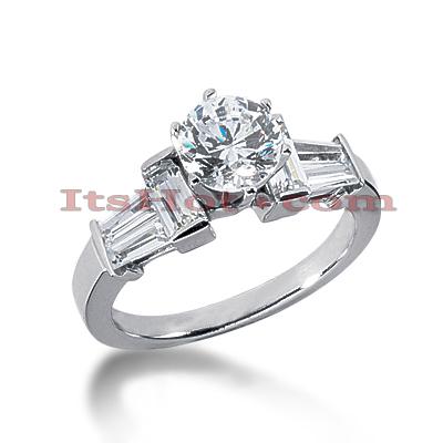 14K Gold Diamond Engagement Ring Mounting 1.02ct