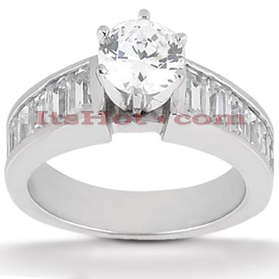 14K Gold Diamond Engagement Ring Mounting 1.04ct