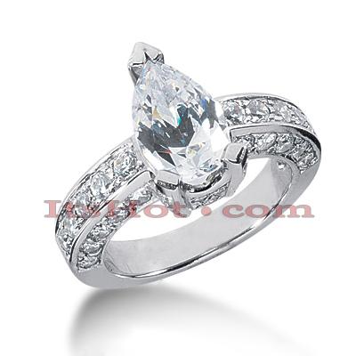 14K Gold Diamond Engagement Ring Mounting 1.08ct