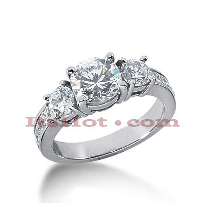 14K Gold Diamond Engagement Ring Mounting 1.10ct
