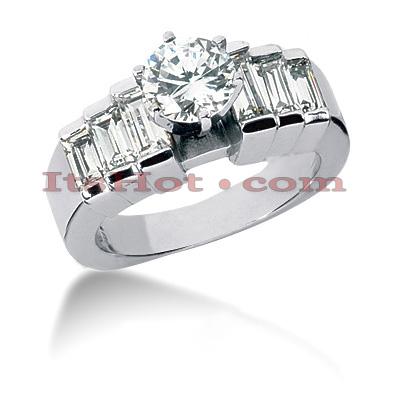 14K Gold Diamond Engagement Ring Mounting 1.12ct