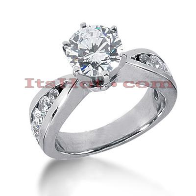 14K Gold Diamond Engagement Ring Mounting 1.18ct