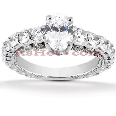 14K Gold Diamond Engagement Ring Mounting 1.19ct