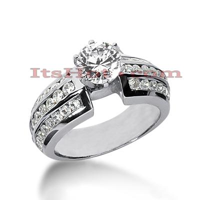 14K Gold Diamond Engagement Ring Mounting 1.25ct