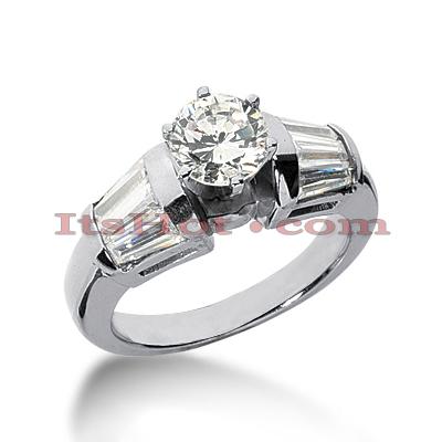 14K Gold Diamond Engagement Ring Mounting 1.26ct