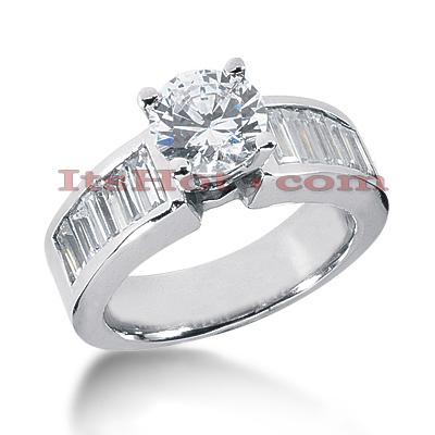 14K Gold Diamond Engagement Ring Mounting 1.32ct