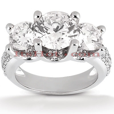 14K Gold Diamond Engagement Ring Mounting 1.40ct