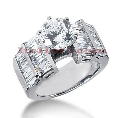14K Gold Diamond Engagement Ring Mounting 2.16ct