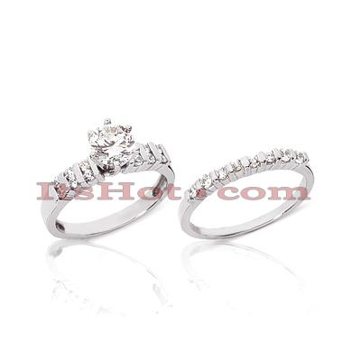 14K Gold Diamond Engagement Ring Set 0.40ct