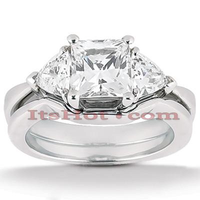 14K Gold Diamond Engagement Ring Set 0.70ct